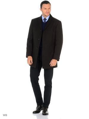 Пальто Bazioni. Цвет: темно-коричневый