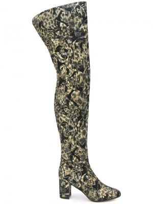Giada thigh high boots Jean-Michel Cazabat. Цвет: зелёный