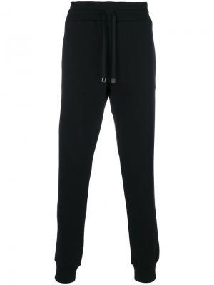 Спортивные штаны с вышитым насекомым Dolce & Gabbana. Цвет: чёрный