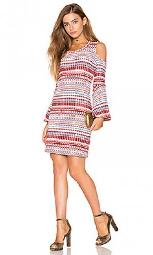 Платье из ткани в рубчик nomadic Ella Moss. Цвет: румянец