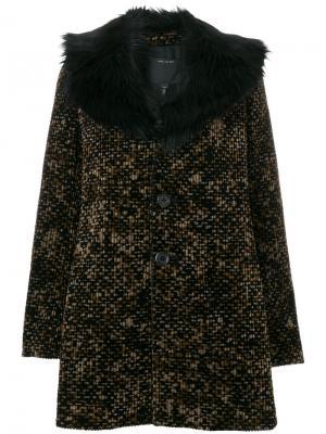 Вельветовое пальто с принтом Marc Jacobs. Цвет: чёрный