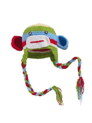 Шапка Милая обезьянка Nothing but Love. Цвет: салатовый, белый, красный