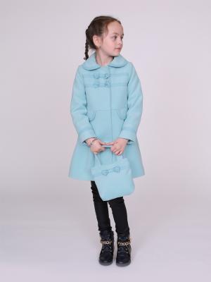 Пальто nasha. Цвет: серо-голубой