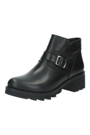 Ботинки BENTA. Цвет: черный, комби