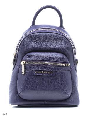Рюкзак Alessandro Birutti. Цвет: фиолетовый