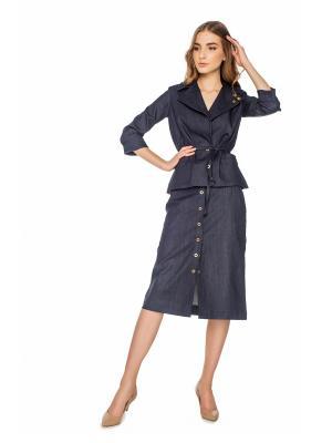 Куртка AUDREY Stimage. Цвет: темно-синий, индиго