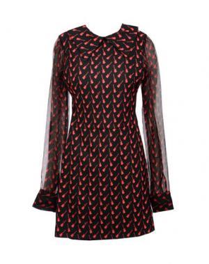 Короткое платье AU JOUR LE. Цвет: черный