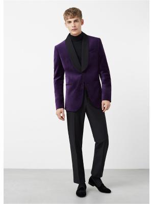 Пиджак - VELVET MANGO MAN. Цвет: фиолетовый