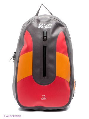 Рюкзак Черепаха 25 Nova tour. Цвет: серый, красный, оранжевый
