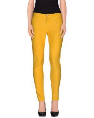 Повседневные брюки BLEULAB. Цвет: желтый