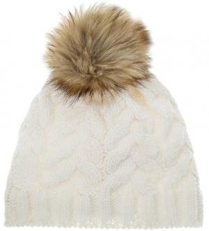 Трикотажная вязаная шапка CANADIAN. Цвет: белый