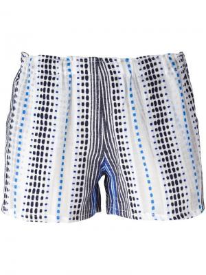 Тканые шорты Jana Lemlem. Цвет: синий