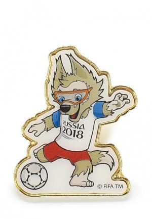 Значок 2018 FIFA World Cup Russia™. Цвет: бежевый