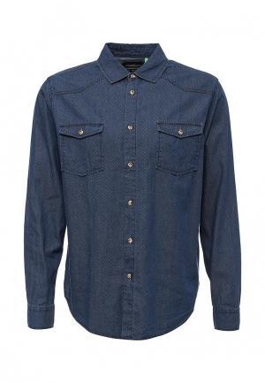 Рубашка джинсовая Sela. Цвет: синий