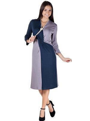 Платье OLIVEGREY. Цвет: серый, темно-синий