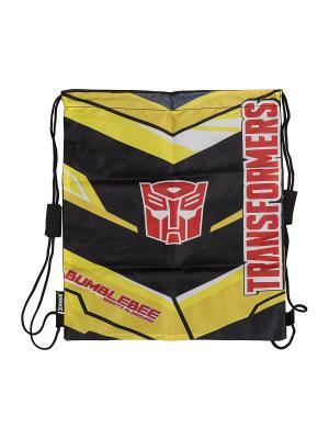 Сумка-рюкзак для обуви.Transformers Prime Transformers. Цвет: желтый, серый, черный