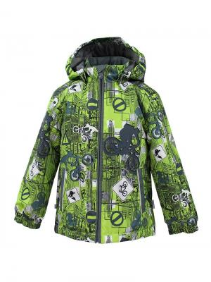 Куртка для детей JODY HUPPA. Цвет: серый, салатовый