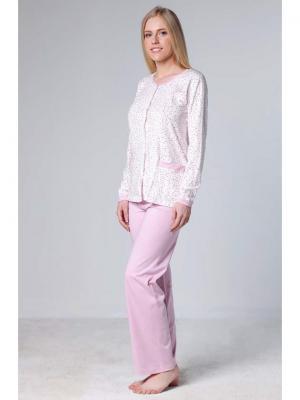 Пижама Jasmil. Цвет: розовый