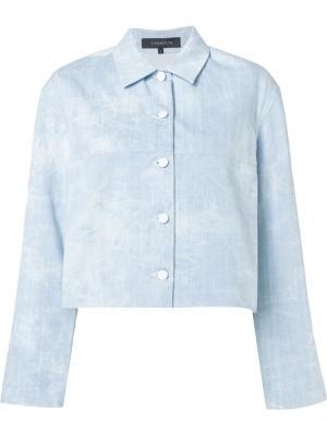Укороченная джинсовая куртка Thakoon. Цвет: синий