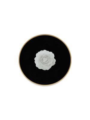 Блюдце  Porto Elff Ceramics. Цвет: белый, черный