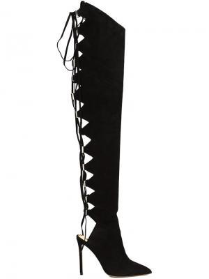 Ботфорты на шнуровке Alexandre Vauthier. Цвет: чёрный