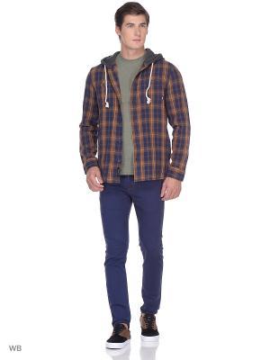 Рубашка LOPES VANS. Цвет: темно-синий, коричневый, серый