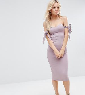 ASOS Petite Платье миди. Цвет: фиолетовый