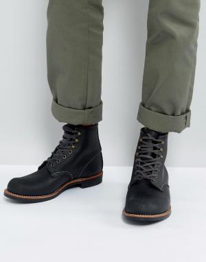 Red Wing Черные кожаные ботинки со шнуровкой Blacksmith. Цвет: черный