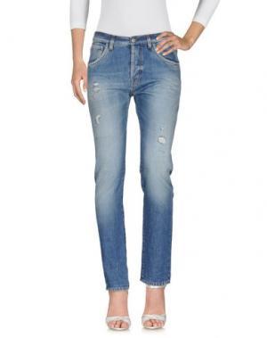 Джинсовые брюки AGLINI. Цвет: синий