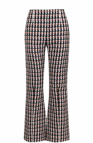 Расклешенные хлопковые брюки с принтом Marni. Цвет: разноцветный