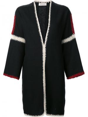 Объемное пальто без застежки Masscob. Цвет: чёрный