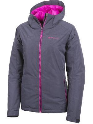 Куртка Alpine PRO. Цвет: темно-серый, малиновый
