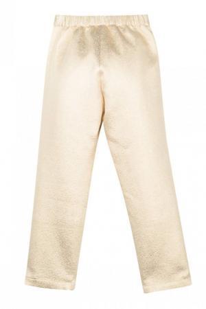 Блестящие брюки Bonpoint. Цвет: золотой