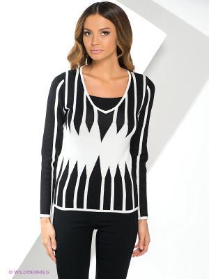 Пуловер Yuka. Цвет: черный, белый