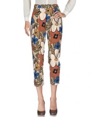 Повседневные брюки KING KONG. Цвет: бежевый