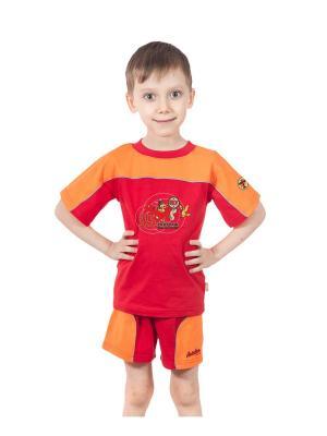Шорты и футболка МИКИТА. Цвет: коралловый, оранжевый