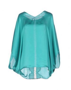 Блузка MISS MONEY. Цвет: бирюзовый