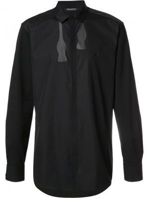 Рубашка с принтом галстука-бабочки Neil Barrett. Цвет: чёрный