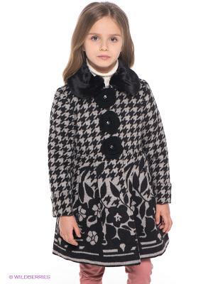 Пальто Baby Steen. Цвет: черный, серый