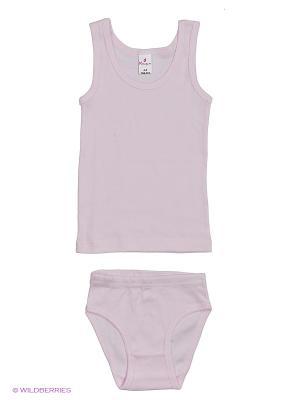 Майка+трусы дев.  MQ0111 01 цвет белый Квирит. Цвет: розовый