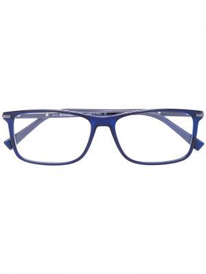 Очки для зрения в прямоугольной оправе Ermenegildo Zegna. Цвет: синий