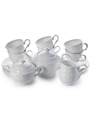 Сервиз чайный Лоза,15 пр Elff Ceramics. Цвет: белый
