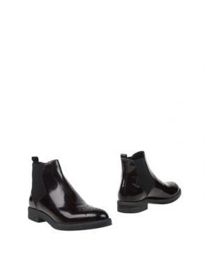 Полусапоги и высокие ботинки BRUNO PREMI. Цвет: баклажанный