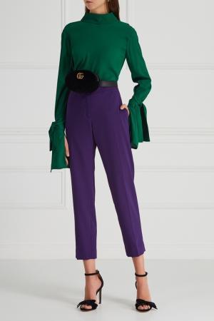 Однотонные брюки Aquilano.Rimondi. Цвет: фиолетовый