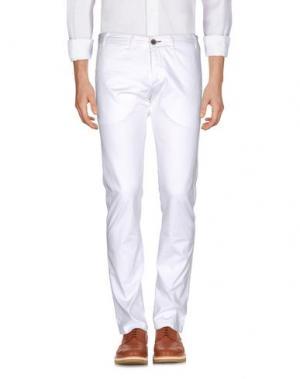 Повседневные брюки ALV ANDARE LONTANO VIAGGIANDO. Цвет: белый
