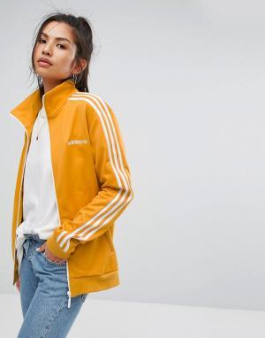 Adidas Желтая спортивная куртка Originals. Цвет: желтый
