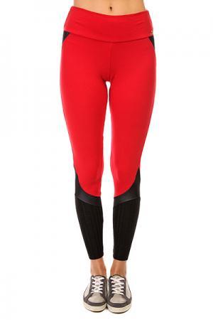Леггинсы женские  Supplex Legging Black/Red CajuBrasil. Цвет: красный,черный