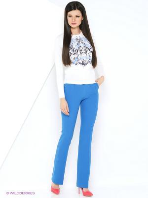 Женские брюки-клеш INDIGIRA. Цвет: синий, голубой