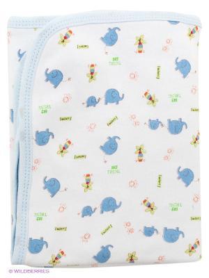 Пеленальное одеяльце Spasilk. Цвет: голубой, молочный