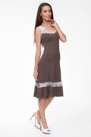 Платье Evalinka. Цвет: коричневый